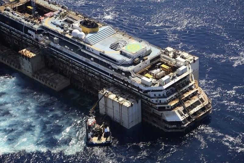 Concordia wypłynęła w ostatnią podróż /COSTA PRESS OFFICE /PAP/EPA