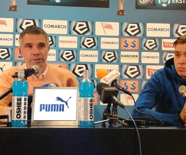 Cracovia - Korona 2-2. Gino Lettieri: Nasza sytuacja kadrowa jest fatalna (wideo)