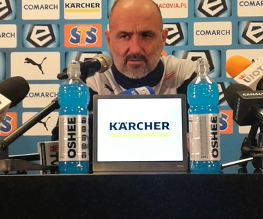 Cracovia - Korona 2-2. Michał Probierz: Lettieri jest wiecznie urażony (wideo)