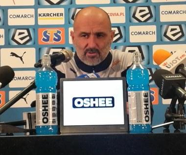 Cracovia - Korona 2-2. Michał Probierz: Ten punkt trzeba przyjąć z pokorą (wideo)