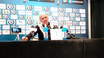 Cracovia - Pogoń 3-0. Michał Probierz o błędzie Sandomierskiego. Wideo