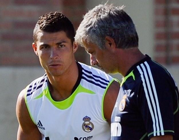 Cristiano Rolando w towarzystwie Josego Mourinho /AFP