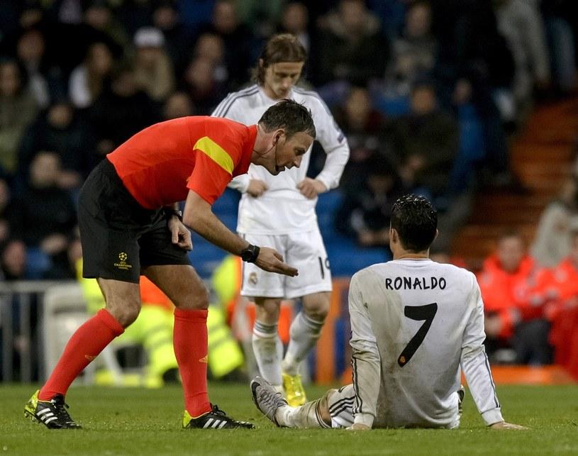 Cristiano Ronaldo doznał kontuzji w meczu z Borussią Dortmund w Madrycie /AFP