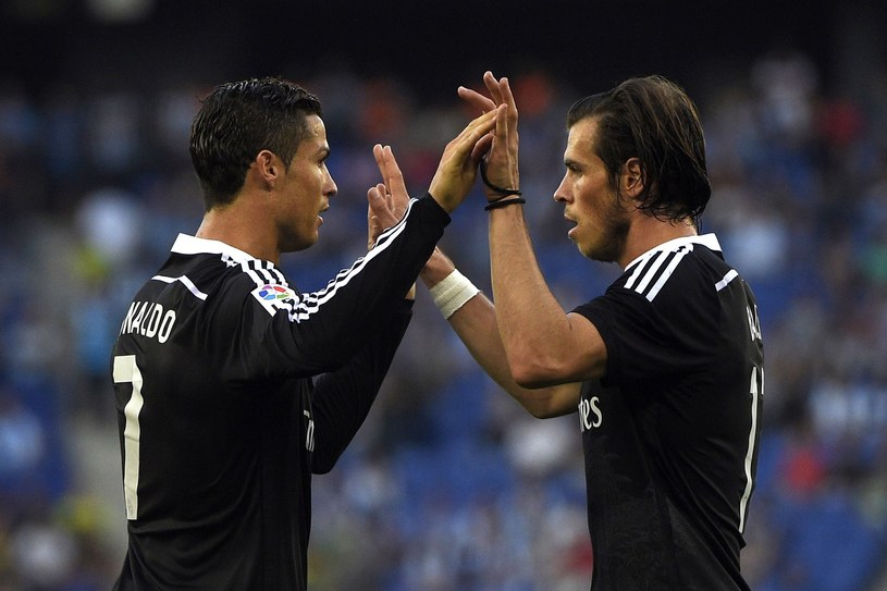 Cristiano Ronaldo i Gareth Bale z Realu Madryt /AFP