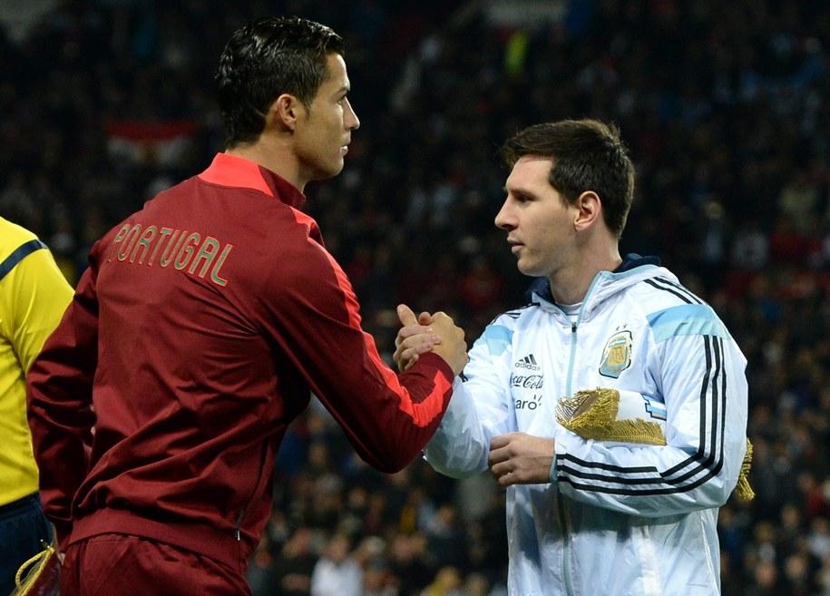 Cristiano Ronaldo i Lionel Messi / Nigel Roddis    /PAP/EPA