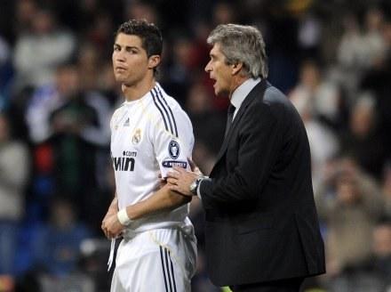 Cristiano Ronaldo i Manuel Pellegrini /AFP