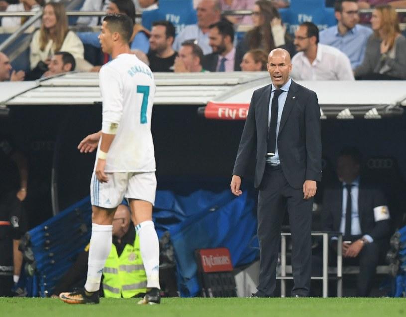 Cristiano Ronaldo i trener Zinedine Zidane /AFP