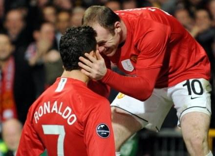Cristiano Ronaldo i Wayne Rooney stanowili piekielnie groźny duet w Man Utd /AFP