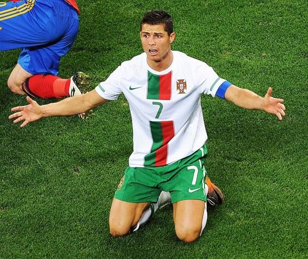 Cristiano Ronaldo jest załamany /AFP