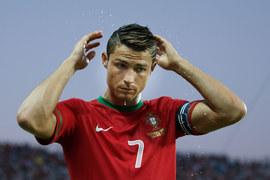 Cristiano Ronaldo - nawet angielski deszcz nie mógł zmyć żelu z jego włosów