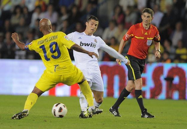 Cristiano Ronaldo strzelił dwa gole w meczu z Villarreal /AFP