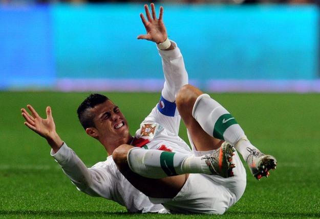 Cristiano Ronaldo w barwach reprezentacji Portugalii /AFP