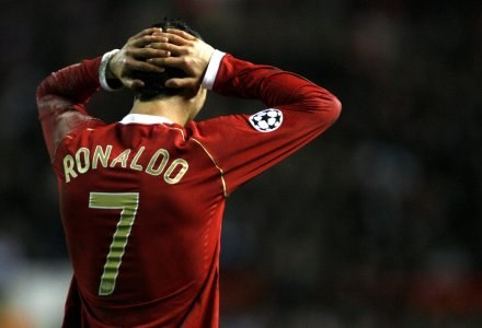 Cristiano Ronaldo z Manchesteru United /AFP