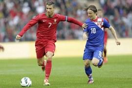 Cristiano Ronaldo z nową fryzurą podczas meczu towarzyskiego Portugalia - Chorwacja