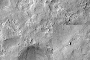 Curiosity widoczny z orbity Marsa