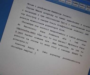 """""""Cwaniak"""" pisze list..."""