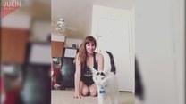 Ćwiczyła jogę. Co zrobił jej kot?