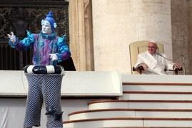 Cyrkowcy u papieża Franciszka