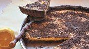 Cytrynowa tarta z czekoladową posypką
