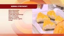 Cytrynowy sernik z nerkowców i mango