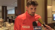 Czarnogóra - Polska. Paweł Wszołek: Jestem w pełnej gotowości. Wideo
