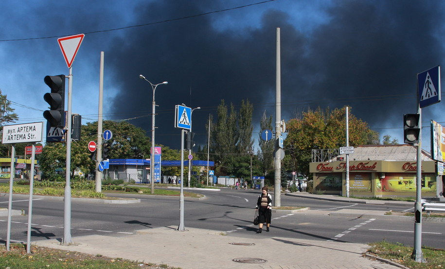 Czarny dym w rejonie Doniecka /PHOTOMIG /PAP/EPA