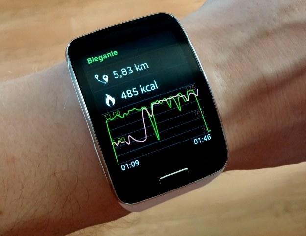 Czas, jak na taki dystans, dość słaby, ale to nie wina zegarka. Gear S to poprawny sprzęt do biegania dla sportowców-amatorów /INTERIA.PL