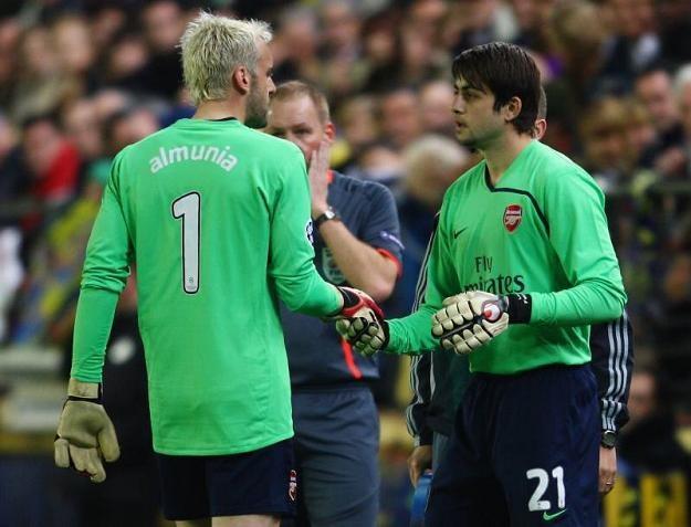 """Czas Manuela Almunii w Arsenalu minął. Teraz bramki """"Kanonierów"""" strzeże Łukasz Fabiański /Getty Images/Flash Press Media"""