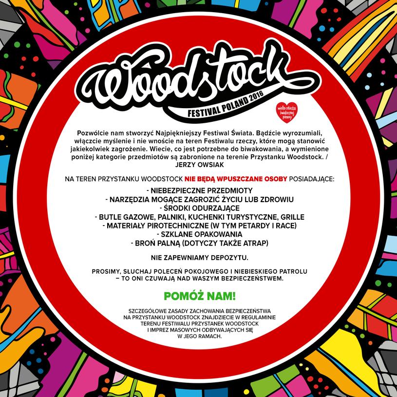 Czego nie zabierać na Przystanek Woodstock /WOŚP