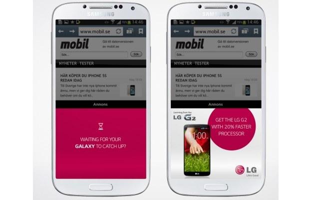 Czekasz aż twój Galaxy w końcu zaskoczy? Sięgnij po LG G2 z procesorem szybszym o 20%.   fot. omegadroid.co /materiały prasowe