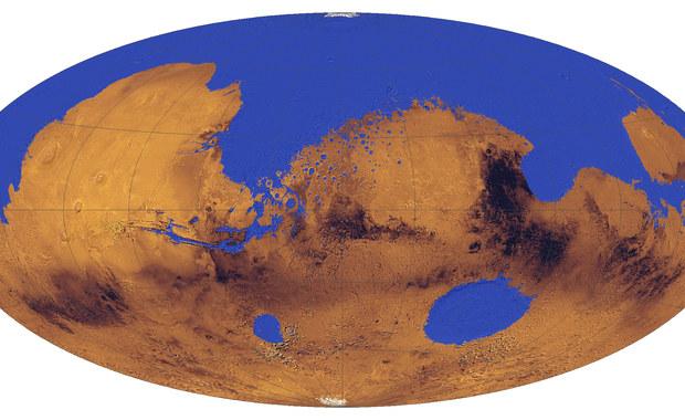 Czerwona Planeta była w 1/3... niebieską planetą
