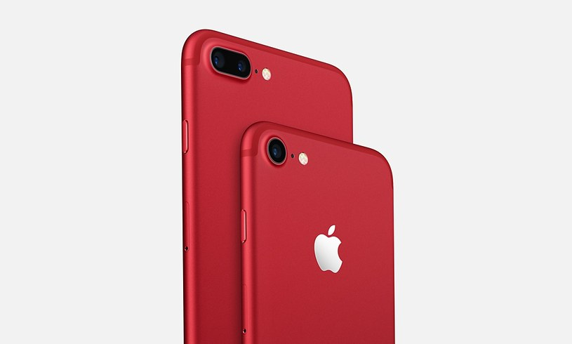 Czerwone iPhone'y 7 i 7 Plus /materiały prasowe
