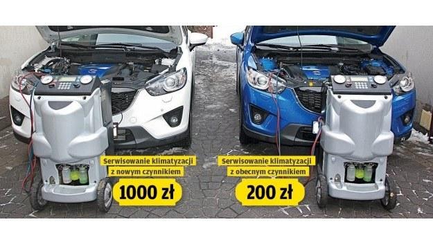 Część aut wyprodukowanych w 2012 r. ma jeszcze stary, a część - już nowy czynnik klimatyzacji. /Motor