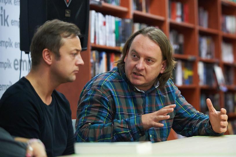 Czesław i Jarek podczas spotkania autorskiego w Empiku /materiały prasowe