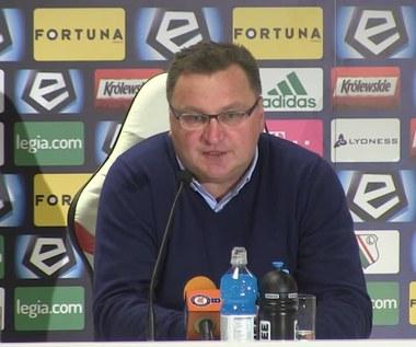Czesław Michniewicz po meczu z Legią Warszawa (1-1)