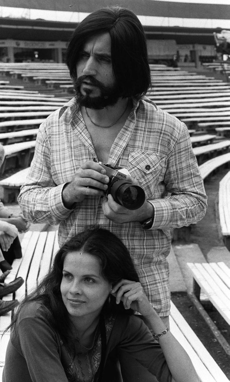 Czesław Niemen i jego żona Małgorzata na zdjęciu z 1979 roku /PAP/Marek Broniarek /PAP