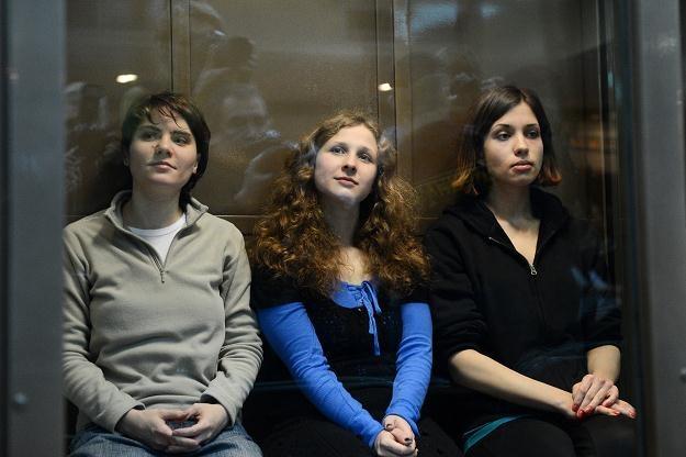 Członkinie Pussy Riot w moskiewskim sądzie, 10 października 2012 /AFP