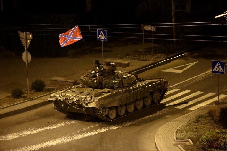 Czołg w Doniecku /AFP
