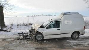 Czołowe zderzenie na trasie Solanka - Srokowo