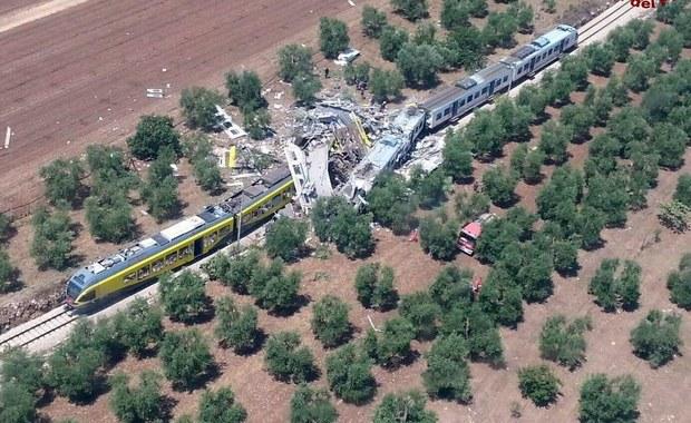 Czołowe zderzenie pociągów we Włoszech. Wielu zabitych i rannych