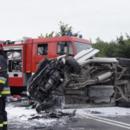 Czołowe zderzenie w Turowie. 8 osób rannych