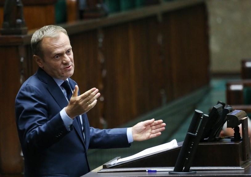 Czy Donald Tusk wyrzuci z partii Jarosława Gowina? /Stanisław Kowalczuk /East News