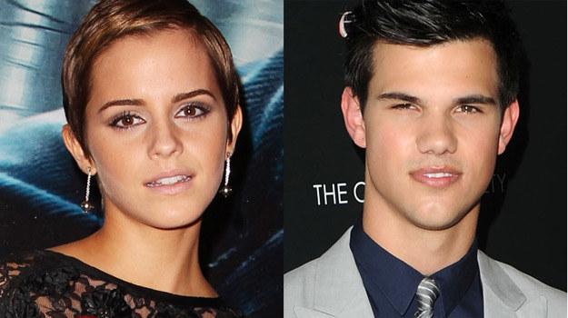 """Czy Emma Watson zagra Taylorem Lautnerem w filmie """"Incarceron""""? /Getty Images/Flash Press Media"""