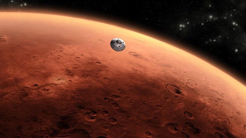 Czy marsjańska baza zostanie wzniesiona z betonu powstałego z gleby Czerwonej Planety? /materiały prasowe