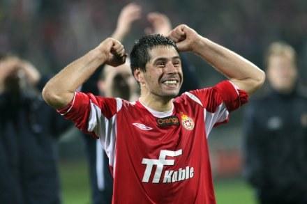 Czy Mauro Cantoro będzie miał powody do radości po meczu z Legią?/fot.Tomasz Jastrzębowski /Agencja Przegląd Sportowy