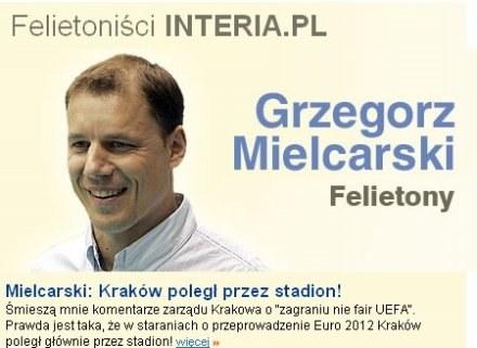 Czy nasz felietonista Grzegorz Mielcarski zostanie prezesem Wisły Kraków? /INTERIA.PL