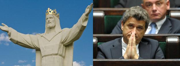 Czy Palikot zawiesi maskę na pomniku Chrystusa? /AFP/ /Reporter