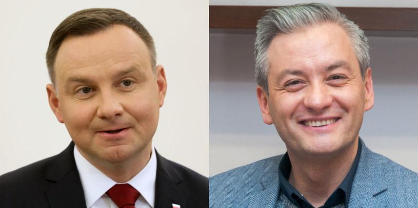 Czy Robert Biedroń (fot. Artur Zawadzki / Reporter) może zagrozić Andrzejowi Dudzie (fot. Stanisław Kowalczuk / Est News)? /East News