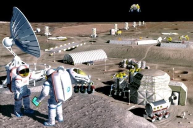 Czy tak będzie kiedyś wyglądało życie na Księżycu? /materiały prasowe