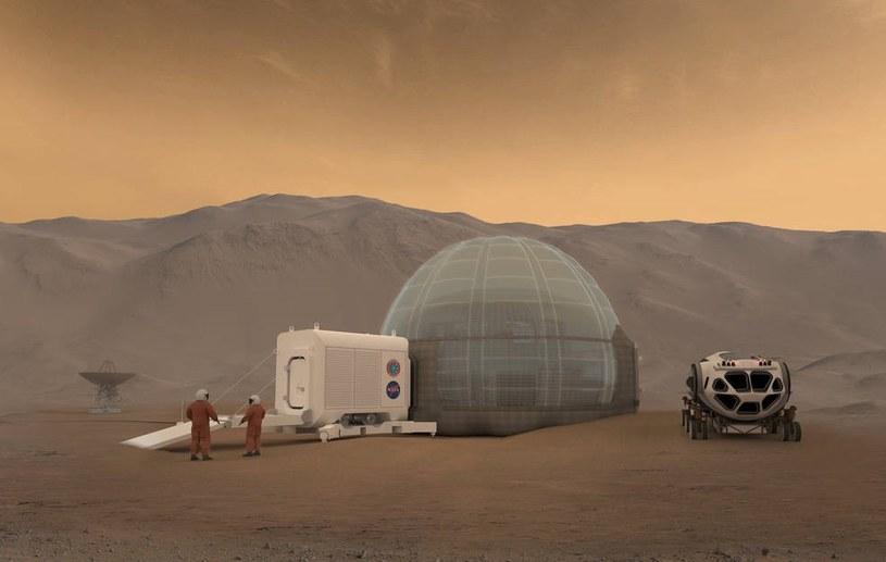 Czy tak będzie wyglądał lodowy habitat NASA? /NASA